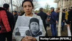 People at the February 26 protest said there was no guarantee that other activists were safe in the detention center after what happened to Dulat Aghadil.