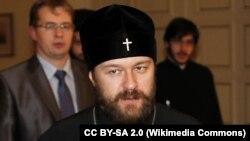 Митрополит Иларион на встрече с Ставросом Димасом