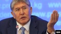 Қырғызстан президенті Алмазбек Атамбаев. Бішкек, 24 желтоқсан 2015 жыл.