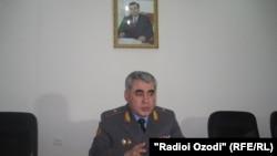 Шариф Назарзода, сардори пулиси вилояти Суғд.