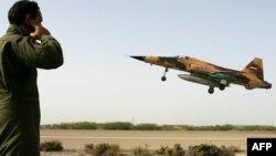 جنگنده اف۵ ایران در یکی از رزمایشهای اخیر.