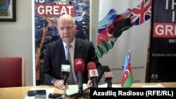 Ադրբեջան - Մեծ Բրիտանիայի արտգործնախարար Ուիլյամ Հեյգը Բաքվում ասուլիսի ժամանակ, 17-ը դեկտեմբերի, 2013թ․