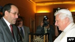 Al-Maliki met Pope Benedict in Italy in early July.