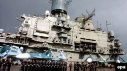 Российский авианосец в порту Тартуса (архивное фото)