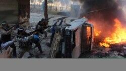 Սիրիա - Ապստամբ զինյալները Հալեպի արվարձաններից մեկում կառավարական զորքերի հետ բախումների ժամանակ, 9-ը հոկտեմբերի, 2013թ․