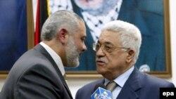 اسماعیل هنیه و محمود عباس برای تشکیل دولت وحدت ملی تلاش می کنند.