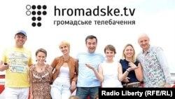 Группа украинских журналистоов, участвующих в проекте hromadske.tv