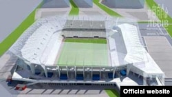 Проект львівського стадіону (Фото прес служби львівської міськради)