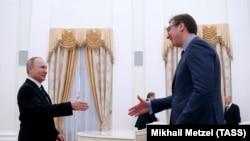 Susret Vladimira Putina sa Aleksandrom Vučićem u Kremlju u martu 2017. godine