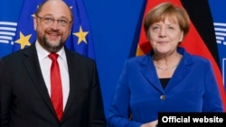 Martin Schulz və Angela Merkel