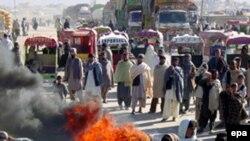 Protest pristalica Benazir Buto