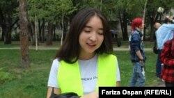 Гражданская активистка Фариза Оспан.