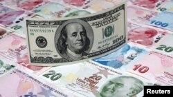 Уфти шадиди лираи туркӣ дар баробари доллар