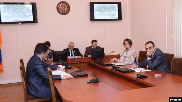 Armenia -  The Central Electoral Commission meets in Yerevan, 8Jan2012.