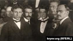 Члени української делегації на переговорах в Бресті