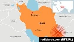Эпицентр землетрясения в Иране. 16 апреля 2013 года.