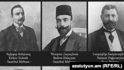 1915-ին ձերբակալված և սպանված հայազգի 7 պատգամավորների թվում են Գրիգոր Զոհրապը, Պետրոս Հալաջյանը և Նազարեթ Տաղավարյանը