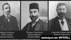 1915-ին ձերբակալված և սպանված հայազգի 7 պատգամավորների թվում են Գրիգոր Զոհրապը, Պետրոս Հալաչյանը և Նազարեթ Տաղավարյանը