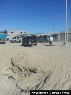 "Gwadar's dusty roads are blocked during the movement of ""Very Important Persons""."