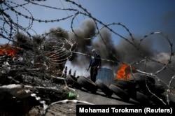 Столкновения вблизи новых израильских поселений на Западном берегу реки Иордан. 6 апреля 2018 года