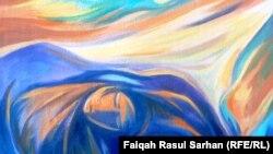 لوحة للفنان سعد الطائي