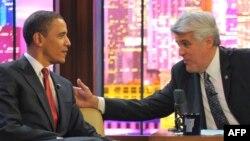 ABŞ - Prezident Barak Obama 2009-cu ildə Jay Leno-nun (sağda) qonağı olmuşdu.