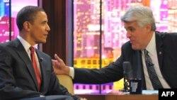 Обама, гостин во шоуто на Џеј Лено.