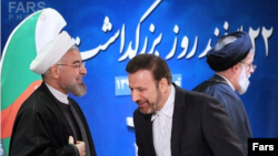 President Hassan Rouhani and Mahmoud Vaezi, his chief of staff. File photo
