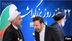 President Hassan Rouhani and his chief of staff Mahmoud Vaezi. File photo