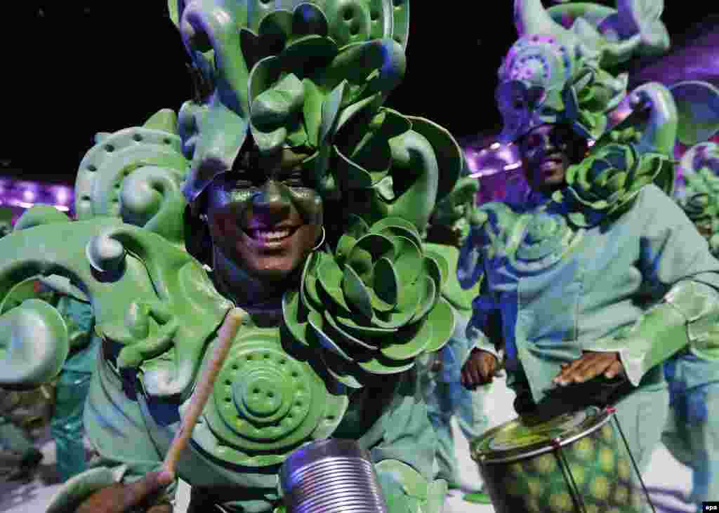 Members of a samba school perform.