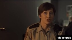 Carrie Coon in the U.S. TV series Fargo, which has a cult following in Russia.
