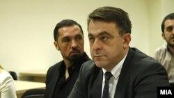 """Архивска фотографија - Зоран Милески Кичеец (лево) на едно од рочиштата од случајот """"Рекет"""""""