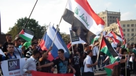 Hundreds of Palestinian emigrant attended the rally in Kharkiv on September 23.