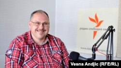 Nedim Sejdinović u beogradskom studiju RSE, maj 2016.