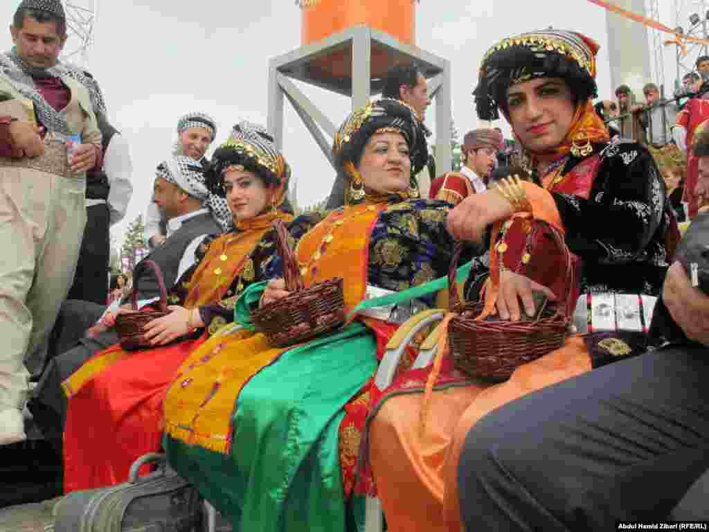 People celebrating Norouz in Irbil, Iraq.
