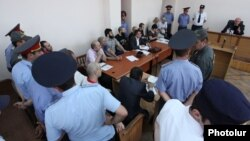 Armenia - Shant Harutiunian and other anti-government government activists go on trial in Yerevan, 12Jun2014.