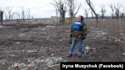 Ірина Музичук у районі АТО