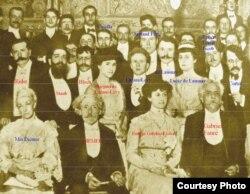 Elevii lui Diemer într-o fotografie istorică din 1908 (Foto: prin curtoazia lui Frédéric Gaussin)