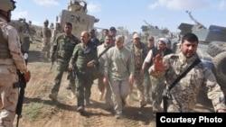 عکسی از قاسم سلیمانی، فرمانده نیروی قدس سپاه در عراق یا سوریه (عکس از آرشیو)
