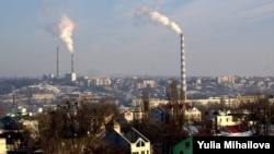 Pamje nga një pjesë e kryeqytetit Kishinev në Moldavi