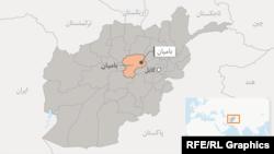 ولایت بامیان در نقشه افغانستان