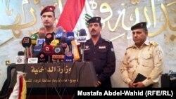 مؤتمر صحفي لقائد عمليات الفرات الاوسط الفريق الغانمي