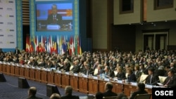 OSCE summit session in Astana on December 2