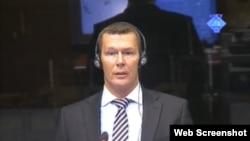 Eelco Koster svjedoči na suđenju Ratku Mladiću, 20. srpanj 2012.