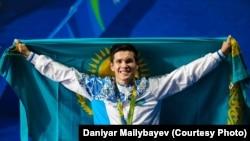 Чемпион Олимпийских игр в Рио-де-Жанейро казахстанский боксер Данияр Елеусинов. 17 августа 2016 года.