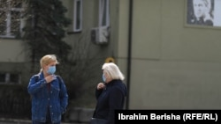 Kosovo: People in Prishtina wear masks, after the first cases with coronavirus were confirmed