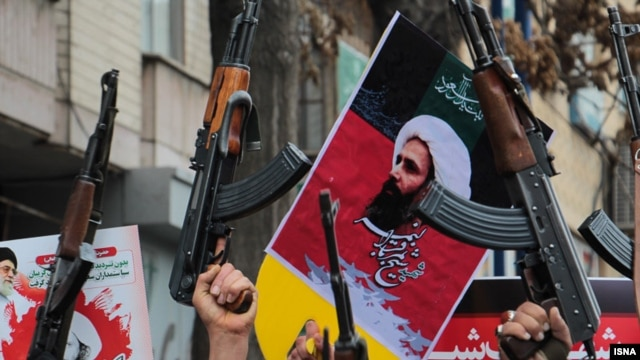 Protests in Iran after the execution of Sheikh Nimr