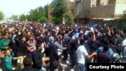 تظاهرة إحتجاج في الأهواز