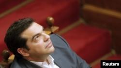 Премьер-министр Греции Алексис Ципрас на заседании парламента. Афины, 16 июля 2015 года.