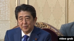 Жапония премьер-министрі Синдзо Абэ. Бішкек, 26 қазан 2015 жыл.